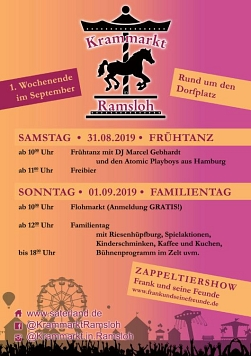 Krammarkt Flyer 2019 © Gemeinde Saterland